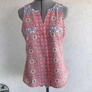 Sanctuary clothing paisley flora hi low tank top s